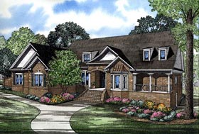 House Plan 61398 with 4 Beds, 6 Baths, 3 Car Garage Elevation