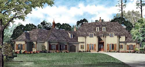 House Plan 61399 with 6 Beds, 7 Baths, 3 Car Garage Elevation