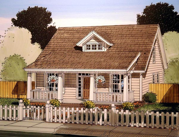 Cabin Cape Cod Southern House Plan 61405 Elevation