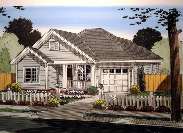 Traditional House Plan 61408 Elevation