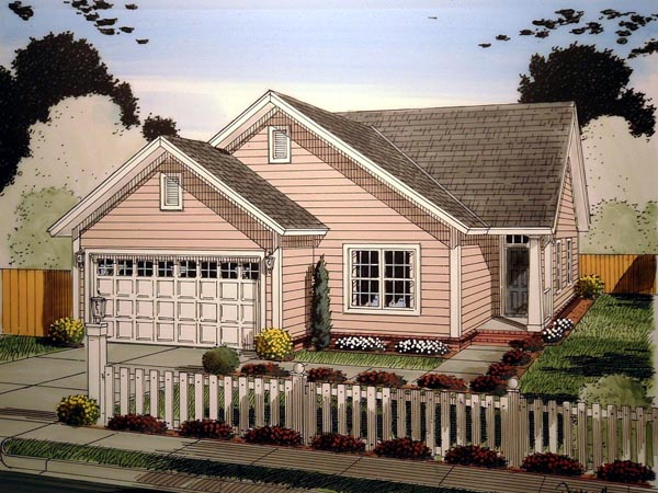 Craftsman Traditional Elevation of Plan 61409