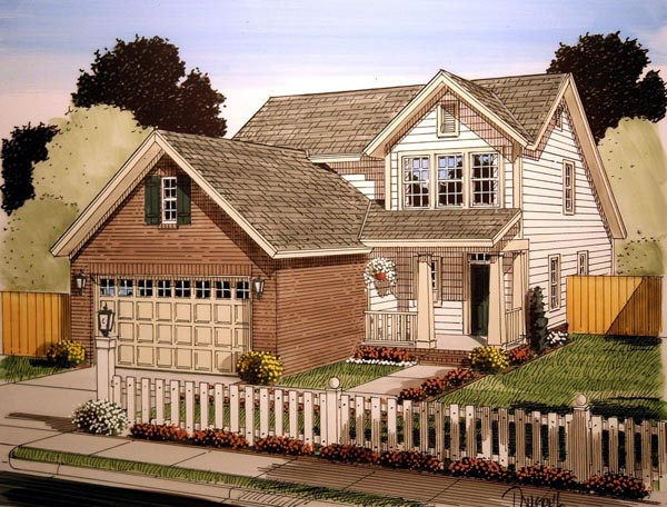 Traditional House Plan 61410 Elevation