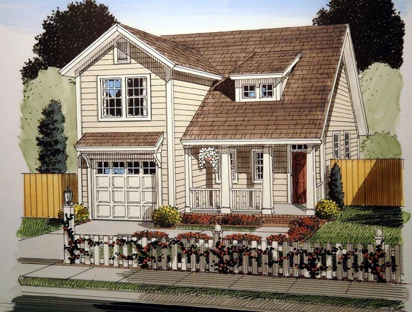 Traditional House Plan 61411 Elevation