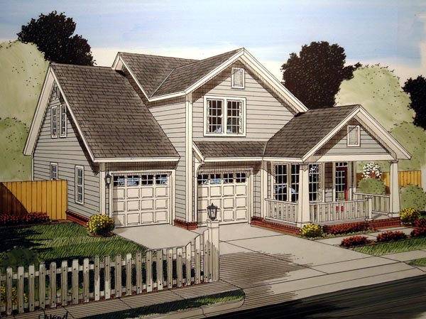 Traditional House Plan 61412 Elevation
