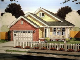 House Plan 61413 | Traditional Style Plan with 1780 Sq Ft, 3 Bedrooms, 2 Bathrooms, 2 Car Garage Elevation