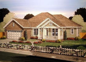 Traditional House Plan 61415 Elevation