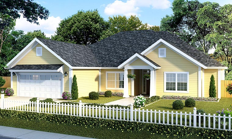 Traditional House Plan 61417 Elevation
