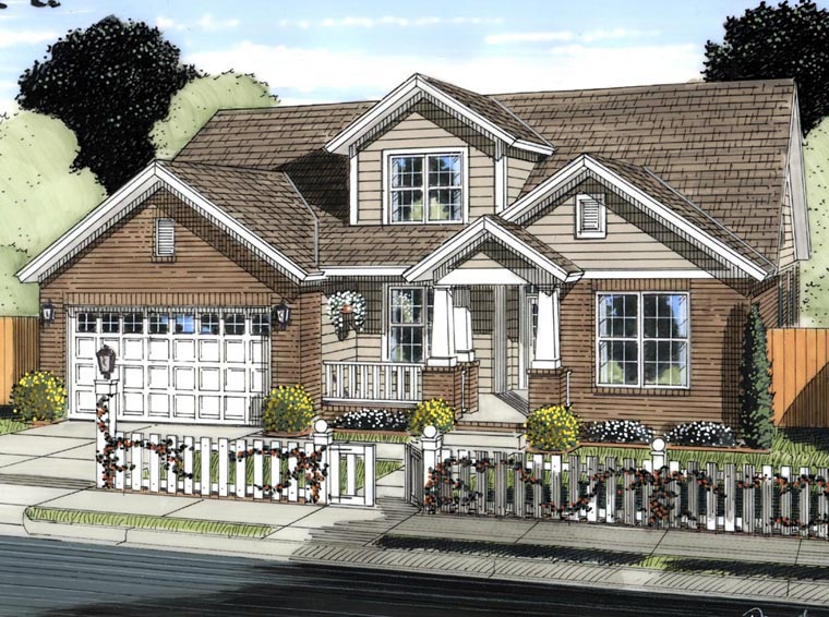 Craftsman Traditional House Plan 61421 Elevation