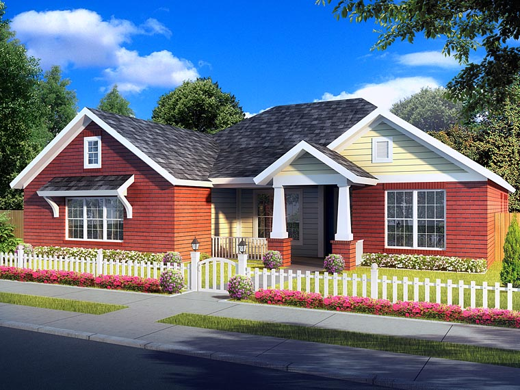 Traditional House Plan 61423 Elevation