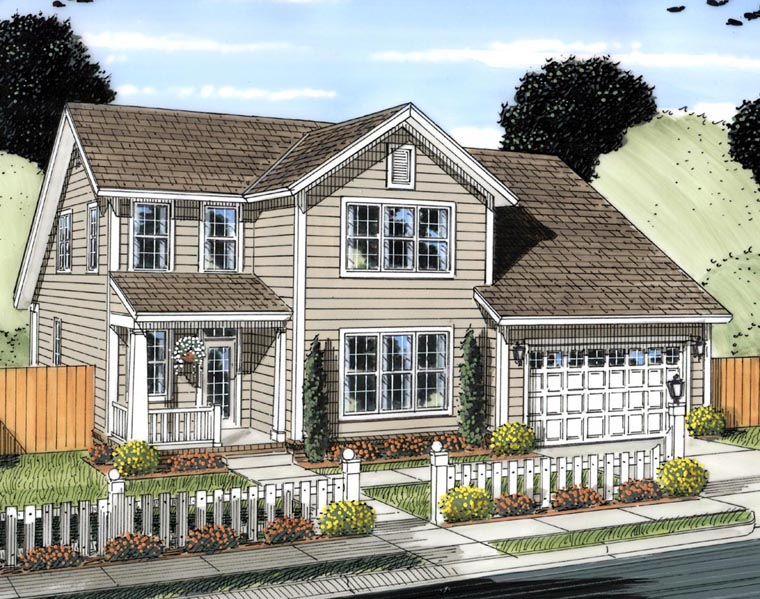 Traditional House Plan 61425 Elevation