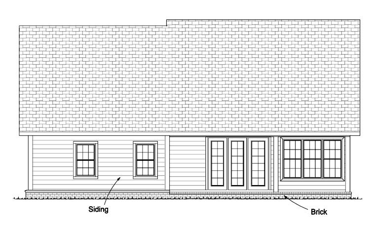 Traditional House Plan 61425 Rear Elevation