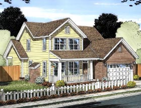 Traditional House Plan 61427 Elevation
