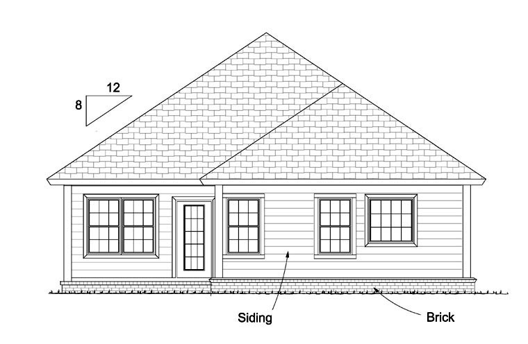 Traditional House Plan 61431 Rear Elevation