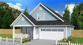 House Plan 61433 | Cottage Country Traditional Style Plan with 1720 Sq Ft, 3 Bedrooms, 3 Bathrooms, 2 Car Garage Elevation