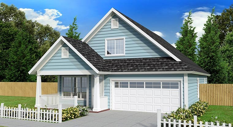 Cottage , Country , Traditional , Elevation of Plan 61433