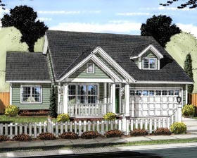 Traditional House Plan 61434 with 3 Beds, 2 Baths, 2 Car Garage Elevation