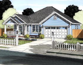 Traditional House Plan 61435 Elevation
