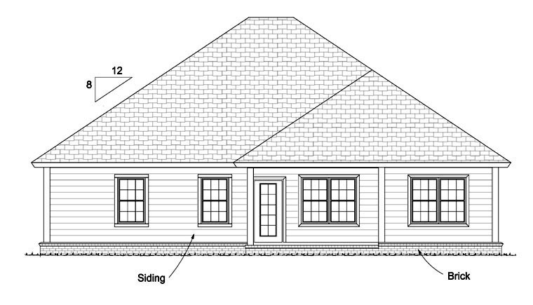 Traditional House Plan 61435 Rear Elevation