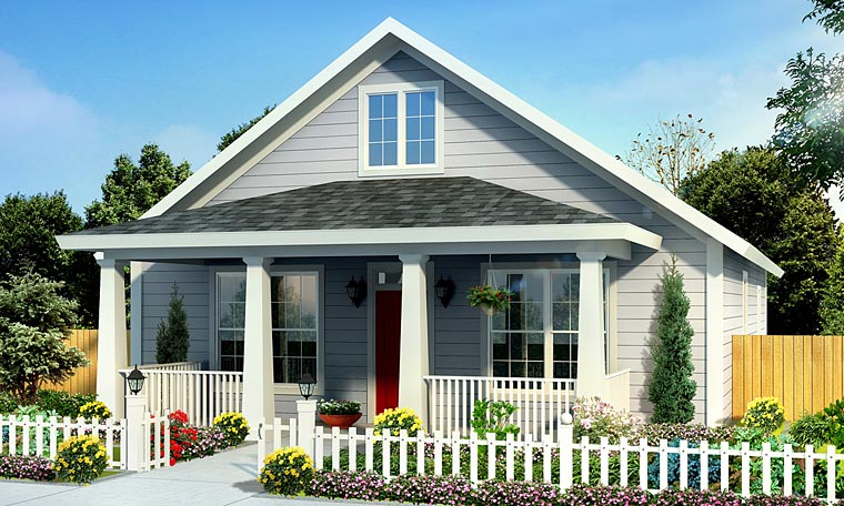 Cottage, Country, Southern, Traditional House Plan 61439 with 3 Beds, 2 Baths Front Elevation
