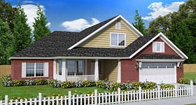 House Plan 61441 | Craftsman Traditional Style Plan with 1788 Sq Ft, 3 Bedrooms, 2 Bathrooms, 3 Car Garage Elevation