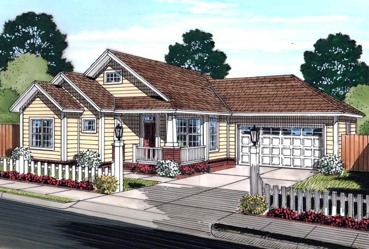 Traditional House Plan 61450 Elevation