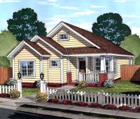 Bungalow , Traditional House Plan 61451 with 3 Beds, 2 Baths Elevation