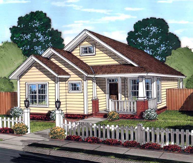 Bungalow Traditional House Plan 61451 Elevation