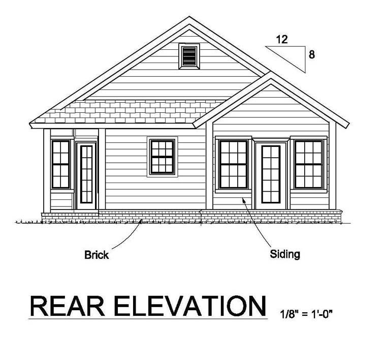 Simple Front Elevation Drawing : House plan at familyhomeplans