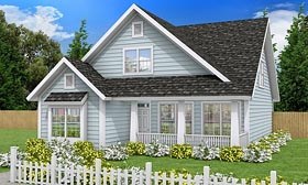 Traditional , Country , Cottage House Plan 61453 with 3 Beds, 3 Baths Elevation