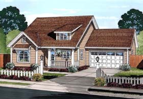 Traditional House Plan 61454 with 3 Beds, 2 Baths, 2 Car Garage Elevation