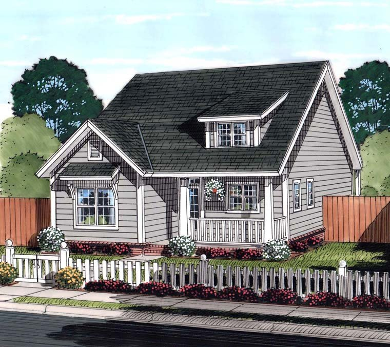 Country Ranch Traditional Elevation of Plan 61455