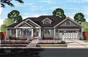Cottage Craftsman Traditional House Plan 61459 Elevation