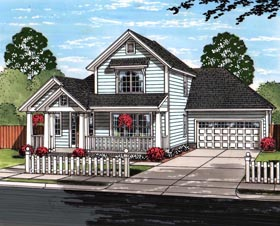 Cottage Craftsman Traditional House Plan 61464 Elevation