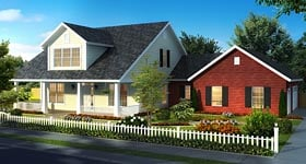 Cape Cod Country Traditional House Plan 61469 Elevation