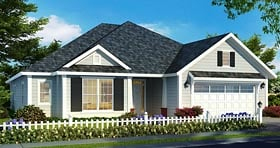 Ranch Traditional House Plan 61471 Elevation
