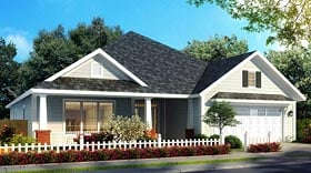 Bungalow , Country , Traditional House Plan 61472 with 4 Beds, 4 Baths, 2 Car Garage Elevation