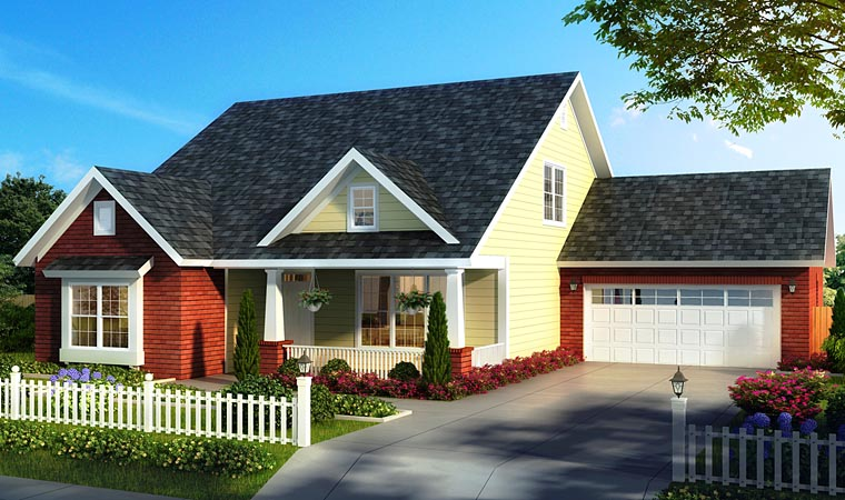 Bungalow Cottage Country Traditional House Plan 61475 Elevation