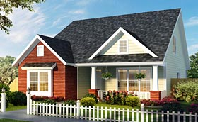 Southern , Country , Cottage House Plan 61476 with 3 Beds, 3 Baths Elevation