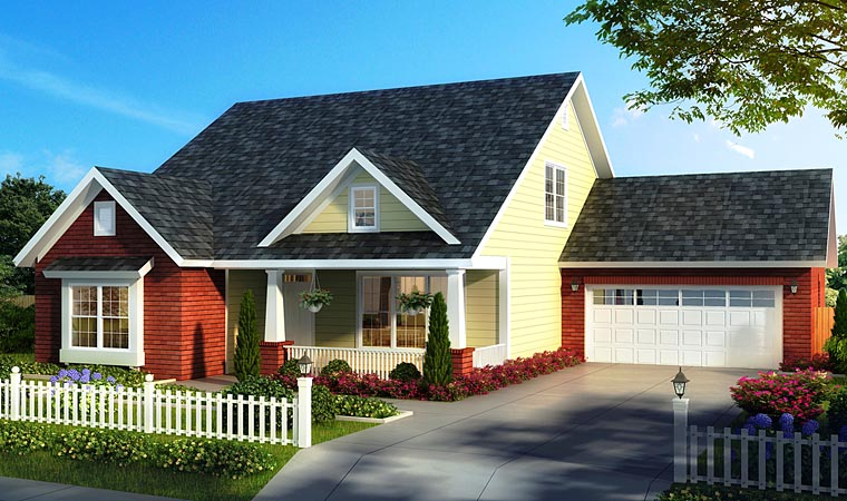 Cape Cod Cottage Country House Plan 61477 Elevation