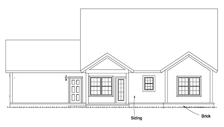 Cape Cod Cottage Country House Plan 61477 Rear Elevation