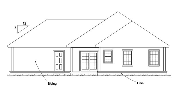 Cabin Country House Plan 61478 Rear Elevation