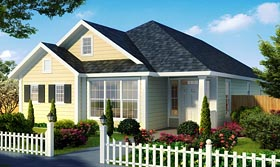 Cottage Country Traditional House Plan 61479 Elevation