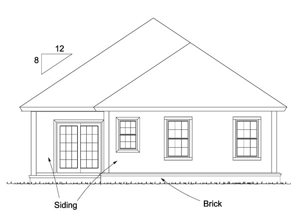 Cottage Country Traditional House Plan 61479 Rear Elevation