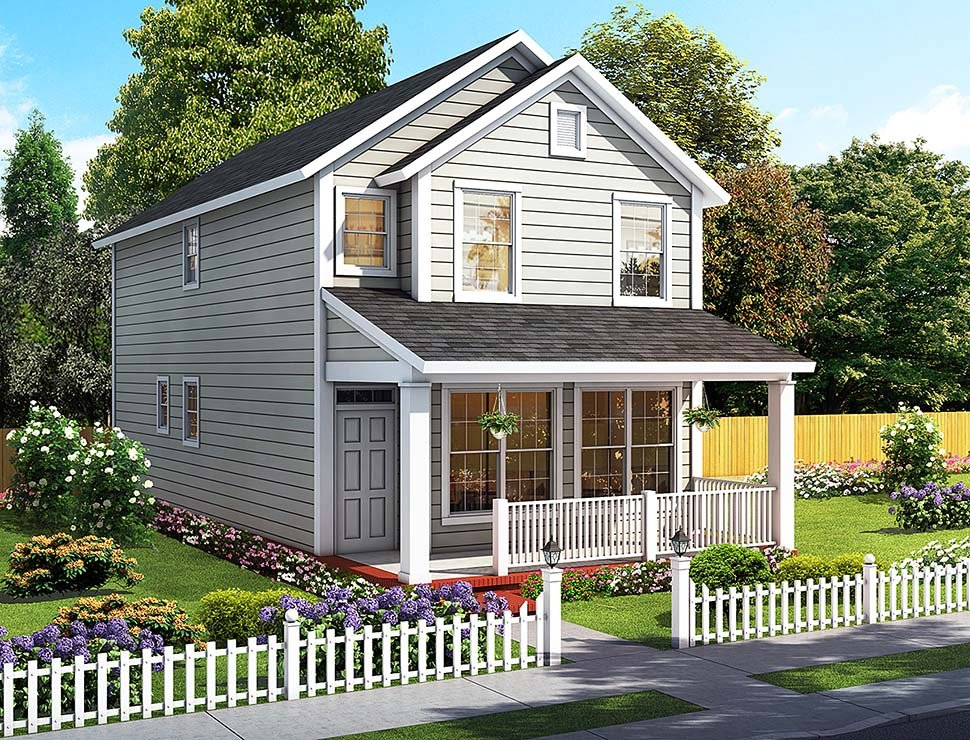 Cottage Traditional Elevation of Plan 61483