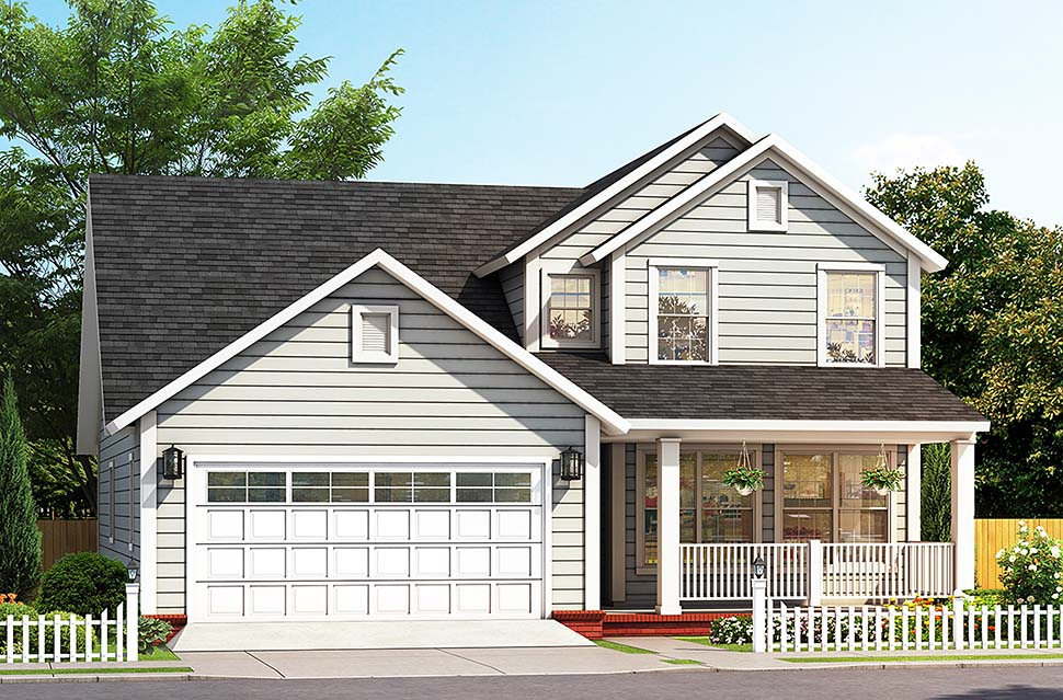 Cottage Traditional Elevation of Plan 61487