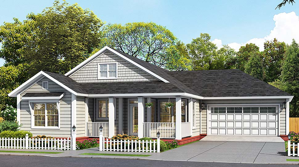 Cottage Traditional Elevation of Plan 61493
