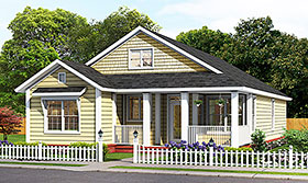 Cottage , Traditional House Plan 61494 with 3 Beds, 2 Baths Elevation