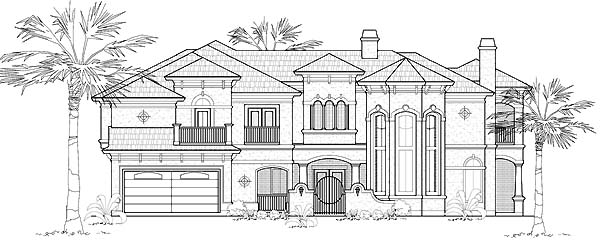 Mediterranean House Plan 61753 Elevation