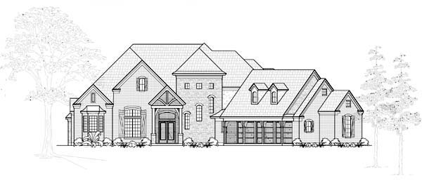 European House Plan 61755 Elevation