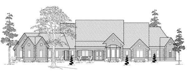 Traditional House Plan 61758 Elevation